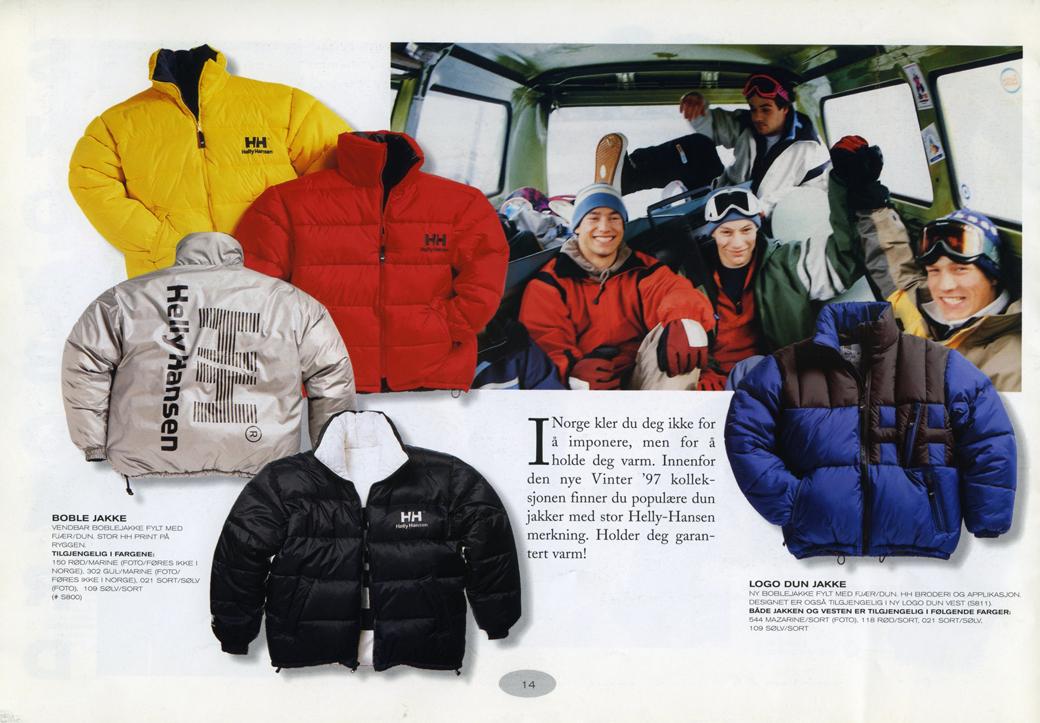 16bf4979 1997: HH ble mer kjent som varemerke og design av moteplagg mer enn  produksjon av Foto: Moss ...