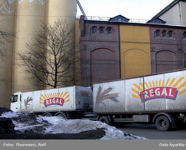 Lastebil ved Bjølsen Valsemølle