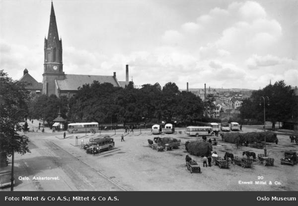 Høytorg og bussterminal på Ankertorget