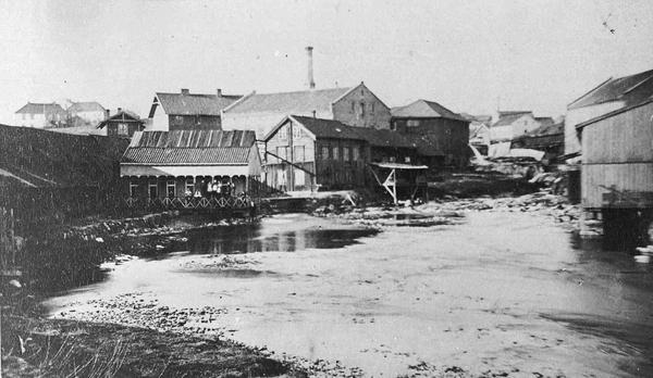 Fra Grünerbroen ca 1860