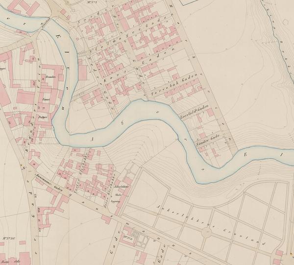 Historiske Kart Fra Elvebakken Ankerlokken Akerselva