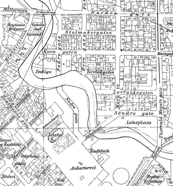 oslo byarkiv kart Historiske kart fra Elvebakken / Ankerløkken, Akerselva oslo byarkiv kart
