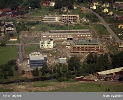 Fabrikken i Frysjaveien ble tatt i bruk i 1962, og fraflyttet rundt 1970. Foto 1962Foto: Oslo Byarkiv<br>