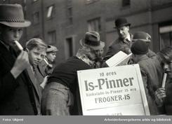 Frogner-is selges på 1. mai 1938Foto: Arbeiderbevegelsens arkiv<br>