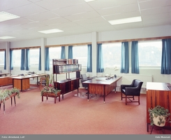 Sjefspulten? Kontrolandskap hos Staubo Elektromaskin, Tvetenveien 30b ca 1971Foto: Leif Ørnelund / Olso Museum<br>