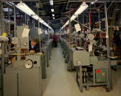 Den nye fabrikken i Tistedalen, som le Cebelle Trengereid etter 1974Foto: Dextra Photo / Teigen<br>
