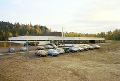 Lissefabrikken i Tistedalen, Halden, 1974, arkitekt Rolf Ramm ØstgårdFoto: Dextra Photo / Teigen<br>