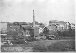 Trevarefabrikken ca. 1905Foto: Akershusbasen 0231-053:0046<br>