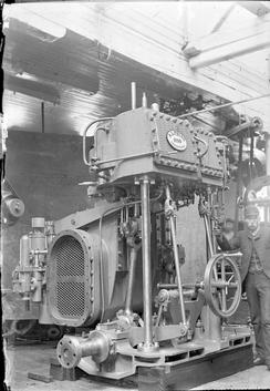Dampmaskin fra 1890Foto: NTM T 243<br>