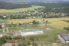 Asolafabrikken rett ved Vestby stasjon sto ferdig i 1965Foto: Akershusbasen<br>