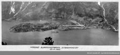Nordags aluminiumsfabrikk på Eitrheimsneset ved OddaFoto: Norsk Vasskraft- og Industristadmuseum<br>