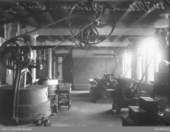 Fabrikklokalene på Grønland i 1896Foto: Szacinski / Oslo Museum <br>