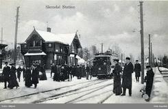 Slemdal stasjon på Holmenkollbanen