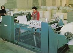 Produksjon av diskruller var på 1970-tallet den eneste ferdigvareproduksjonen som var igjen på Forenede-fabrikkenFoto: Made in Drammen<br>