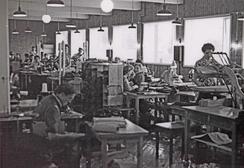 Systua på Condor konfeksjonsfabrikk i Haugesund, ca 1939Foto: Haugalandmuseene<br>
