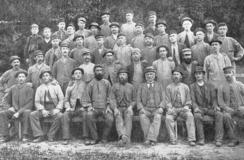 Høvlerifolkene ca. 1896.Foto: Made In Drammen<br>