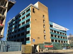 Nyco-fabrikken på Sandaker under riving høsten 2017Foto: Dag Andreassen 2017<br>