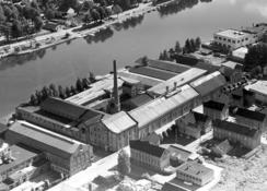 Papirfabrikken på Grønland, Drammen, i 1950-åreneFoto: Made in Drammen<br>