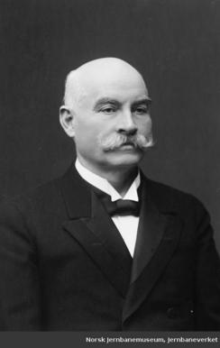 Elias Sunde fikk navnet sitt på bedriften - og hydranter over hele landet.Foto: Digitalt Museum / Jernbanemuseet<br>