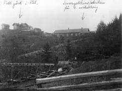 Foss Smergelskivefabrikk før første verdenskrigFoto: Akershusbasen<br>