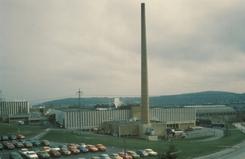 Tiedemanns fabrikk på Ensjø / Hovin fra 1968-2008Foto: Norsk Folkemuseum / Oslobilder<br>