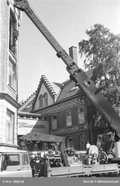 Flyttting av fabrikken til Ensjø i 1968Foto: Norsk Folkemuseum / Oslobilder<br>