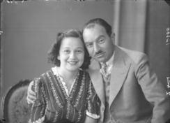Moritz Rabinowitz og datteren Edith, f. 1918Foto: Haugalandmuseene<br>
