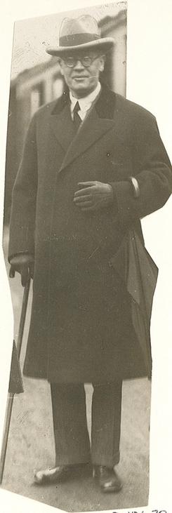 Halvdan Petterøe, tobakksfabrikant og politiker, ca 1932Foto: Oslo Museum<br>