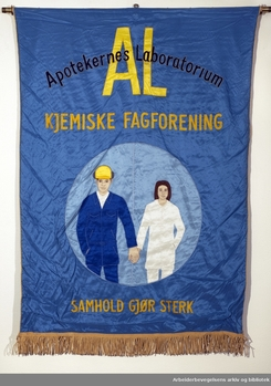 fane for kjemisk arbeiderforbund ved AL-fabrikken på Skøyen.