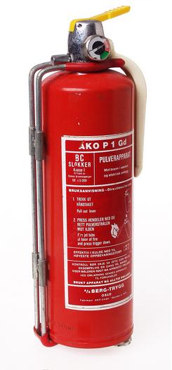 Brannslokkingsapparat importert av Berg-Trygg A/S, NTM 22387