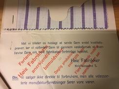 Markedsføringsmateriell fra 1914.