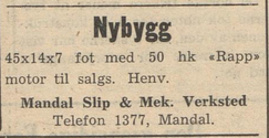 Foto: Fiskeribladet  30. september 1950<br>