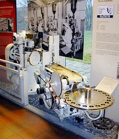 Globoidmaskin utstilt på Teknisk museum Foto: Norsk Teknisk Museum<br>