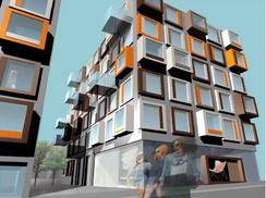 Verdig erstatning? Spenstige planer for nytt boligbygg til erstatning for den gamle fabrikkbygningenFoto: MAD arkitektkontor <br>