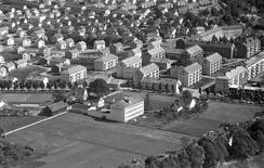 Freyadals Såpefabrikk i 1955Foto: Kilde: Interkommunalt arkiv i Vest-Agder IKS/dbva.no<br>