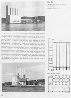 Byggekunst sin presentasjon av kornsiloen til Christianssands Møller.Foto: Byggekunst<br>