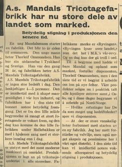 Fra Mandals Avis 2. april 1935