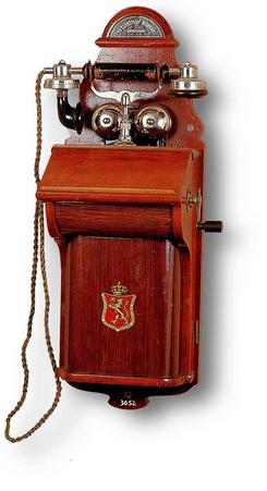 NTM 3052: Veggtelefonapparat fra 1918