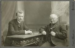 Karl Jebsen på studietur i Barmen i 1902, Fritz Friehlinghaus t.h. Foto: Flasche, Emil<br>