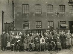 Arbeidarane på avd. Solheim i 1916.Foto: Ukjend<br>