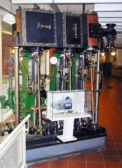 Dampmaskin fra Nylands Verksted, NTM 11540. Maskinen skal nå settes tilbake i drift i dampskipet