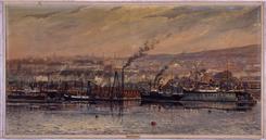 Maleri av Nylands Verksted av Jens Wang 1914, NTM 20558