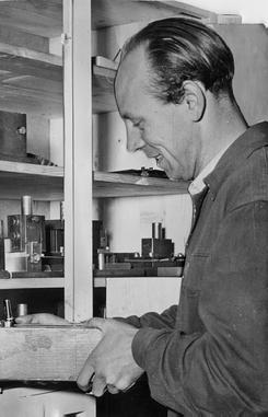 Reidar Werner Bakke, 1950-tallet.Foto: Norsk Jernbanemuseum<br>