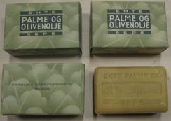 Såpe fra Saanums sepefabrik som i dag er i samlingen til Mandal museumFoto: Birgitte Sørensen<br>