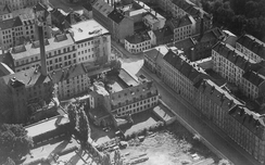 Skofabrikken Norge i Teglverksgata i 1951. Foto: Oslo Byarkiv
