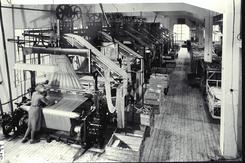 Fra vevsalen på Berger ca. 1935