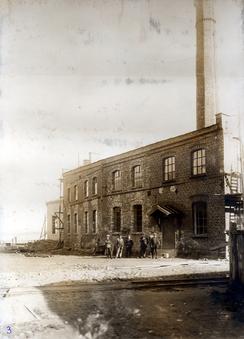 Sveiseverket i 1916Foto: Aluminiumsmuseet / Vestfoldmuseene<br>
