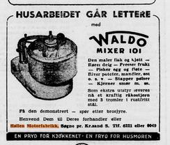 En pryd for kjøkkenet - en fryd for husmoren!Foto: Annonse fra Firda folkeblad 24.02.1955<br>