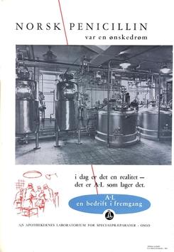 Reklame for norskprodusert penicillin