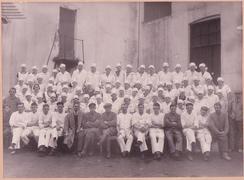 Arbeidere på Minde Sjokoladefabrikk i 1929